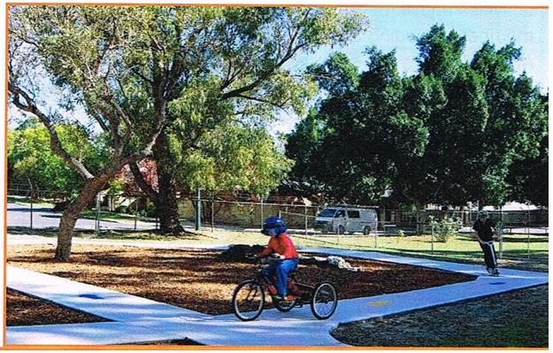 Bike track finished