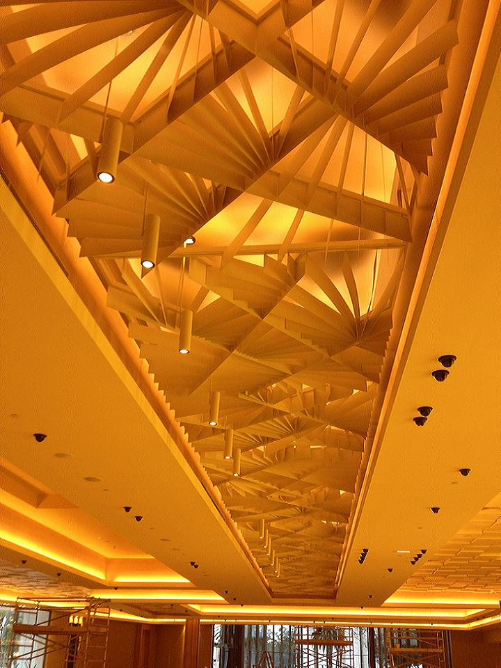 Crown Casino - Gaming Extension, Burswood - Plaster Board Bulk Heads and Architectural Design Fin Ceiling