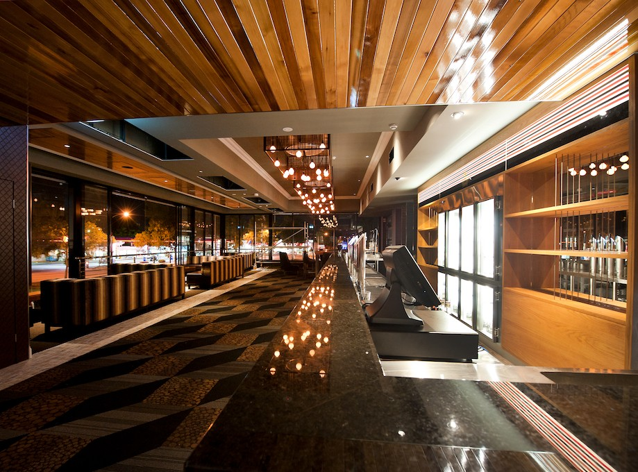 The Empire Bar - Front Bar – Timber, Plasterboard Ceilings & Feature Light Bulkhead, Rivervale