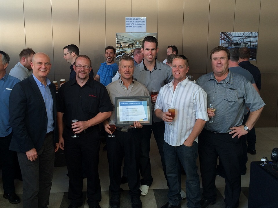 Lendlease Safety recognition award presentation