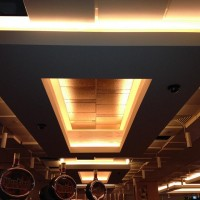 Plasterboard Bulkhead with light feature