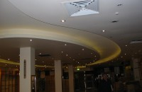 Plasterboard Curved Light Feature Bulkheads, Columns and Walls