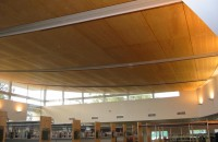 Main Library with Feature Acoustic Perforated Ply Ceilings